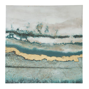 Blue Spruce Abstract Canvas Wall Art