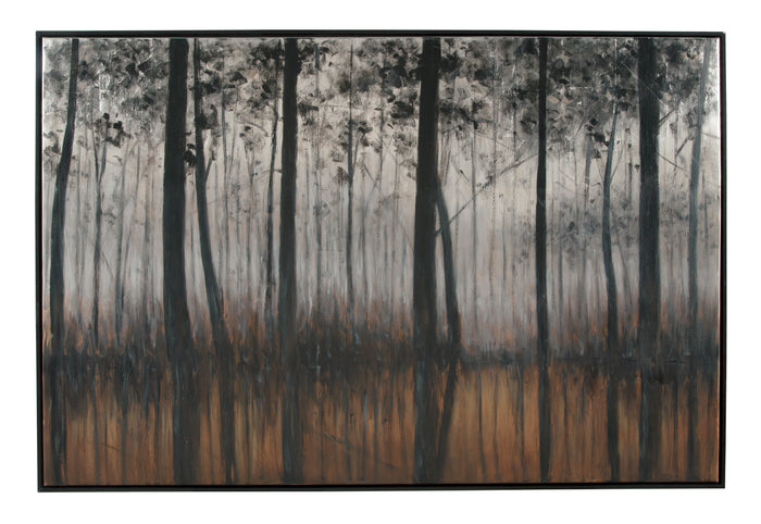 Dark Trees Landscape Canvas Wall Art