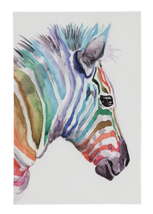Multicolored Zebra Canvas Wall Art