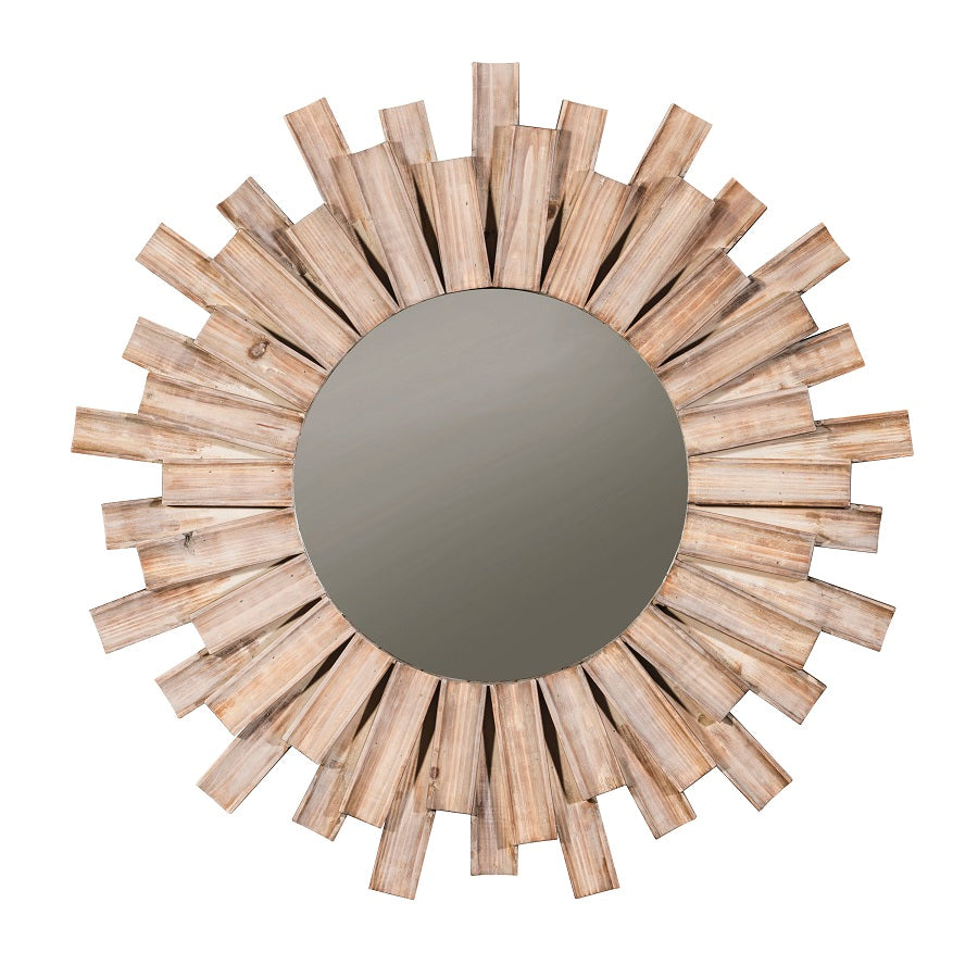 Donna Rustic Sunburst Accent Mirror