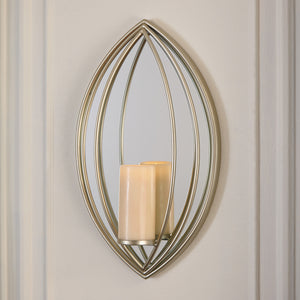 Petal Design Wall Sconce with Candle Holder