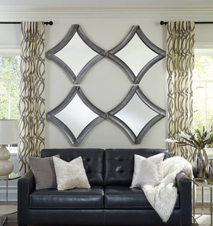 Diamond Shape Accent Wall Mirror