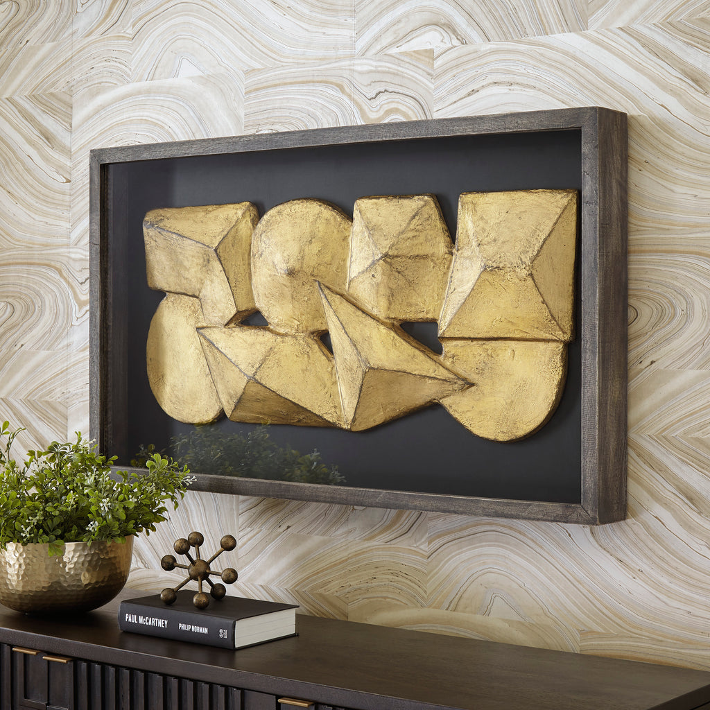 Anton Gold Sculpture Wall Decor
