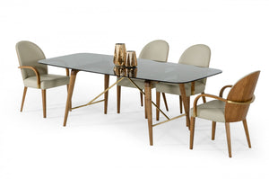 Kipp Smoked Glass Dining Room Collection