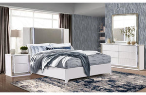 Ashley White Lacquered Bedroom Collection