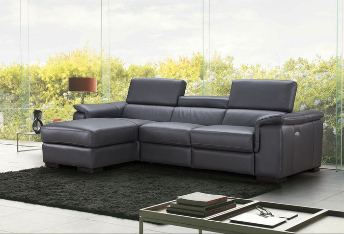Percy Apartment Size Reclining Sectional in 2 Color Options