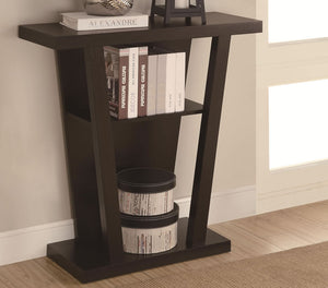 Norridge Contemporary Entry Table in Cappuccino Finish