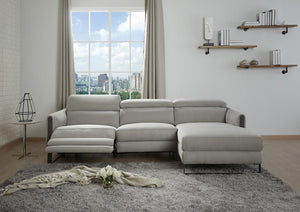 Anthony Chalk Fabric Reclining Sectional