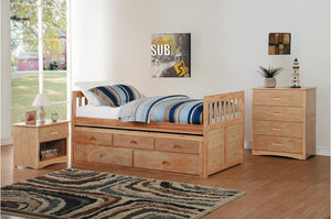 Ryan Twin Trundle Bed in  4 Color Options
