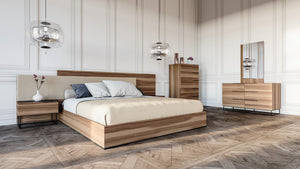 Mathis Italian Modern Walnut Bedroom Collection