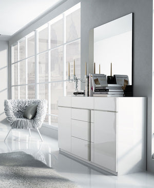 Grayson Modern White Bedroom Collection with Optional Storage