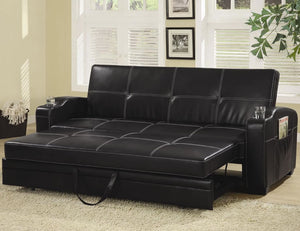 Black Roll Out Sofa Bed
