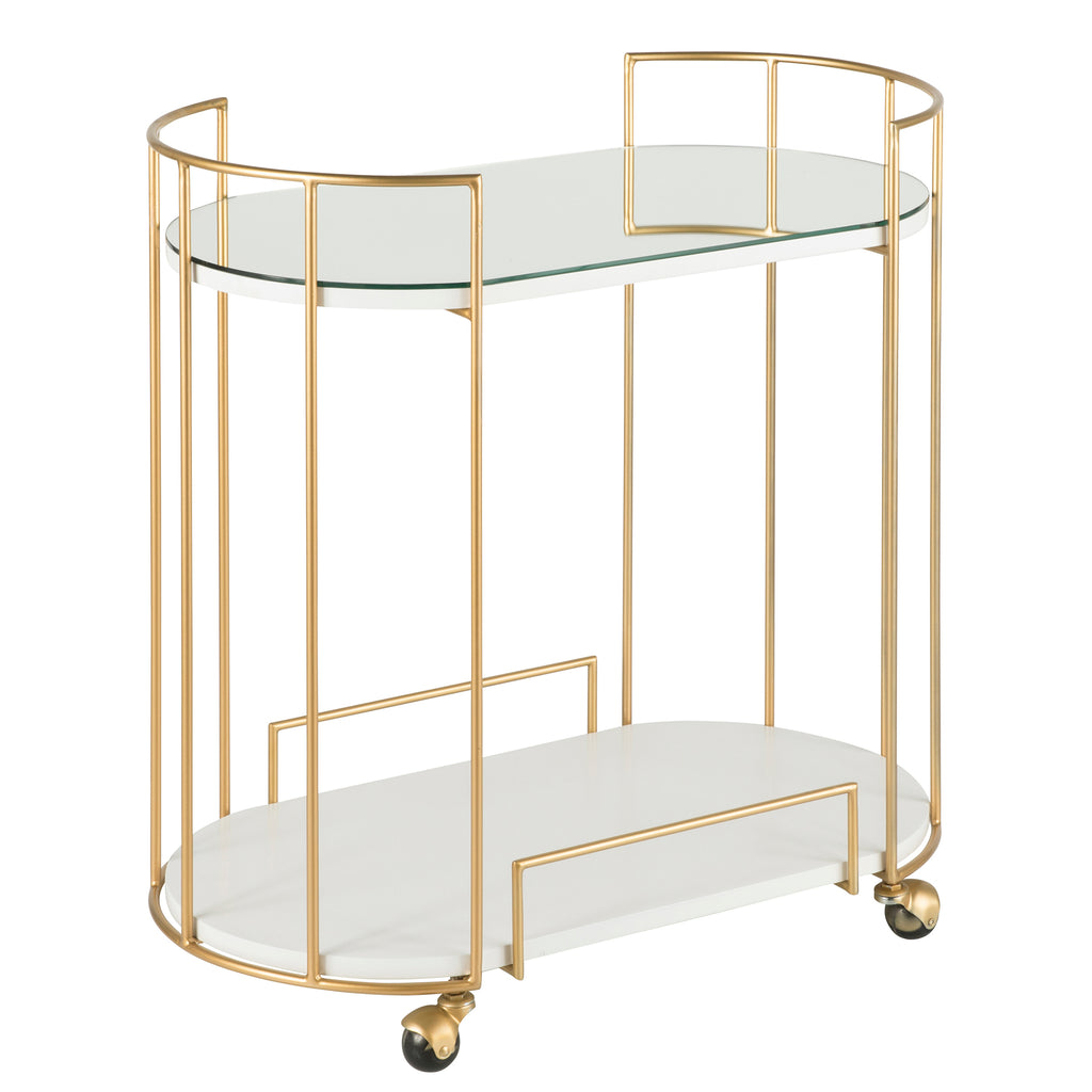Carrie Mirrored Top Bar Cart