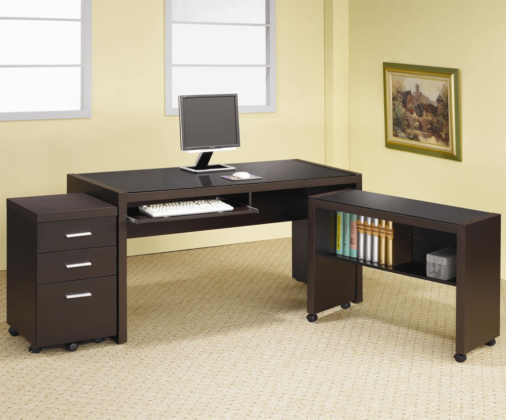 Skylar Computer Desk with Optional Return & File Cabinet