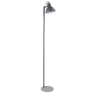 Conner Grey Floor Lamp with Round Concrete Base