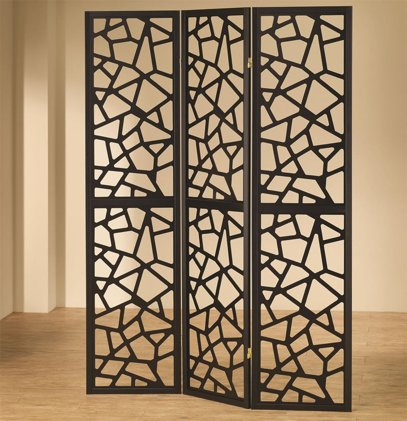 Intricate Mosaic Folding Screen