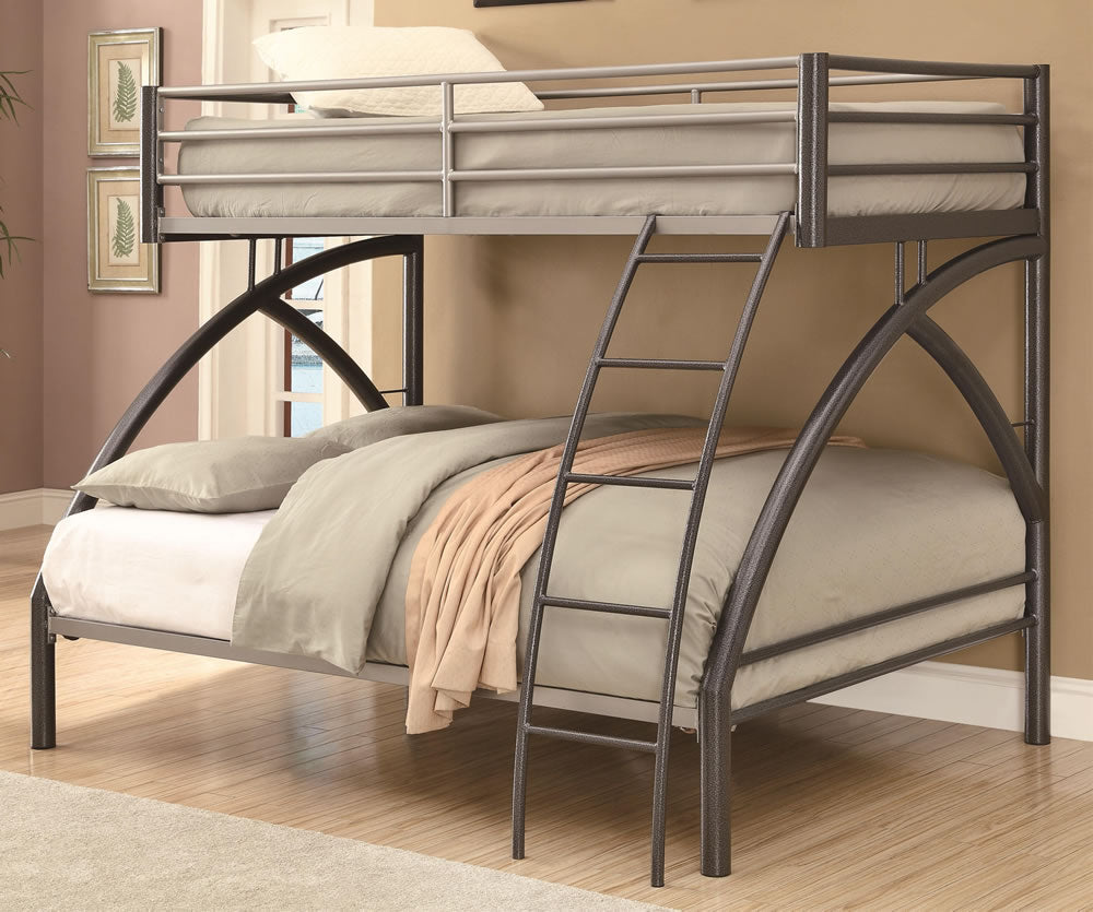 Uptown Contemporary Twin Over Full Metal Bunk Bed Decorium Furnitures
