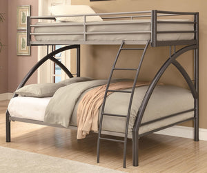 Uptown Contemporary Twin over Full Metal Bunk Bed