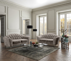 Devine Tufted Fabric Living Room Collection