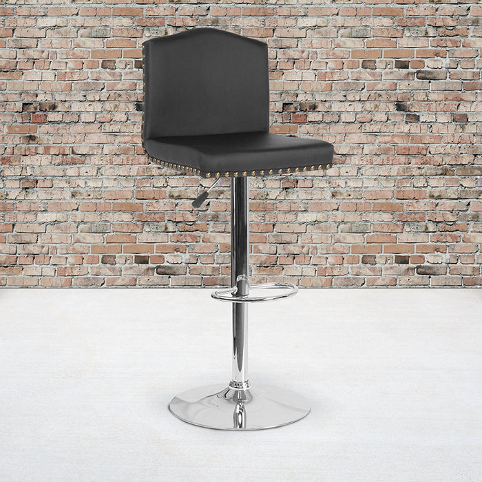Gio Contemporary Adjustable Barstool in 4 Color Options
