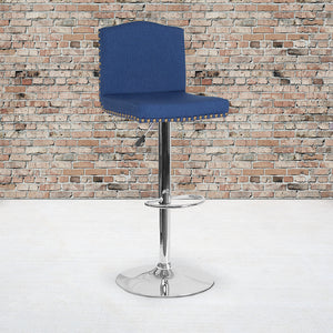 Gio Contemporary Fabric Adjustable Barstool in 6 Color Options