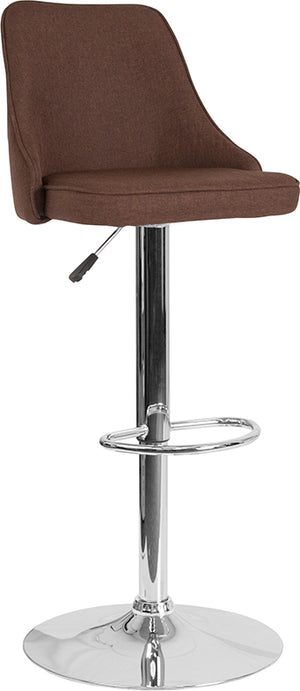 Fabric Quilted Back Adjustable Barstool in 6 Color Options