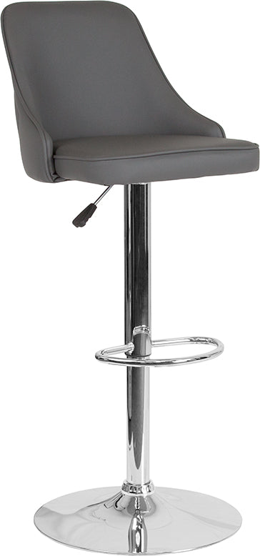 Quilted Back Adjustable Barstool in 4 Color Options