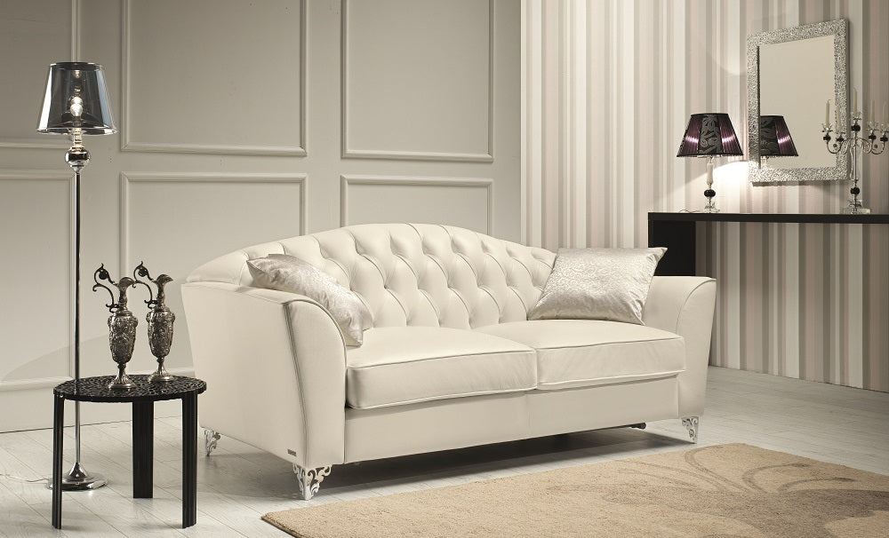 Devine Tufted Leather Living Room Collection
