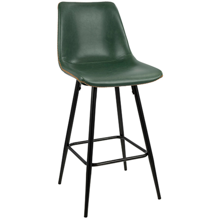 Dustin Counter Height Stool in Green or Grey
