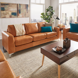 Caramel Leather Living Room Collection