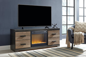 Linda Dual Tone Media Stand with Optional Fireplace Insert