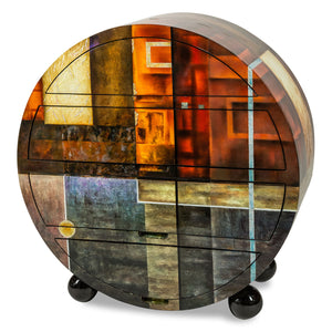Illusions Collection Round Cabinet in 2 Finishes