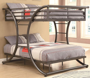 Uptown Contemporary Metal Bunk Bed