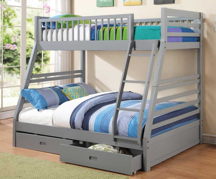 Cooper Twin over Full Bunk Bed with Storage in 5 Color Options