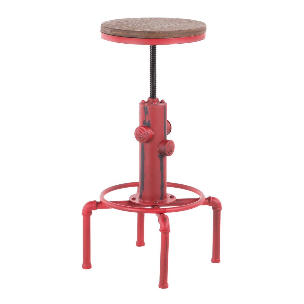 Hilda Industrial Adjustable Stool in 3 Color Options