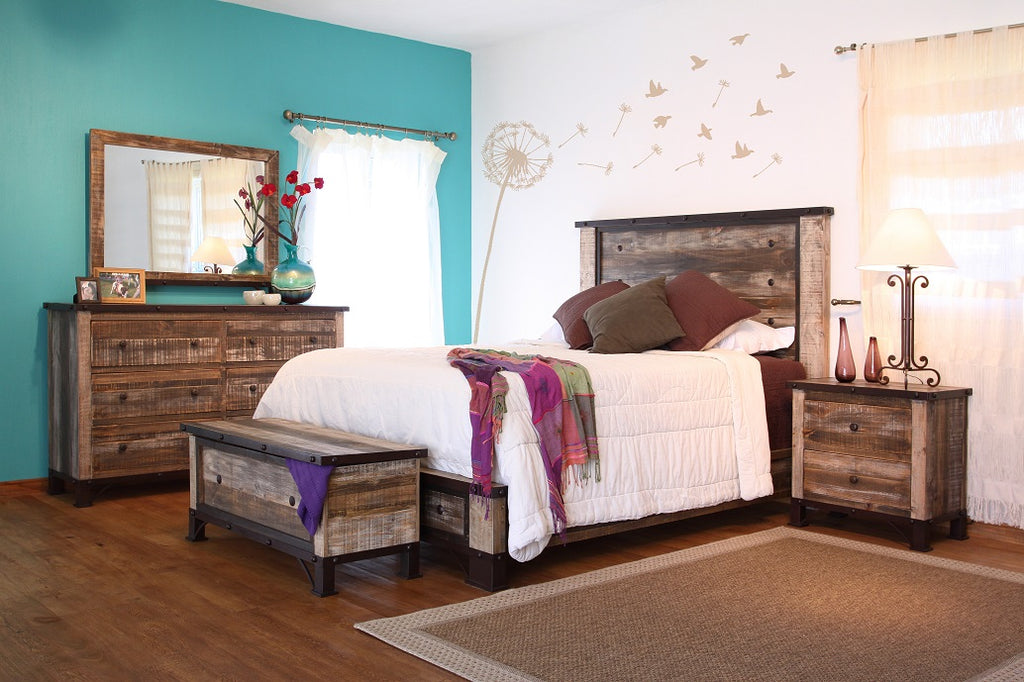Antique Solid Wood Bedroom Collection