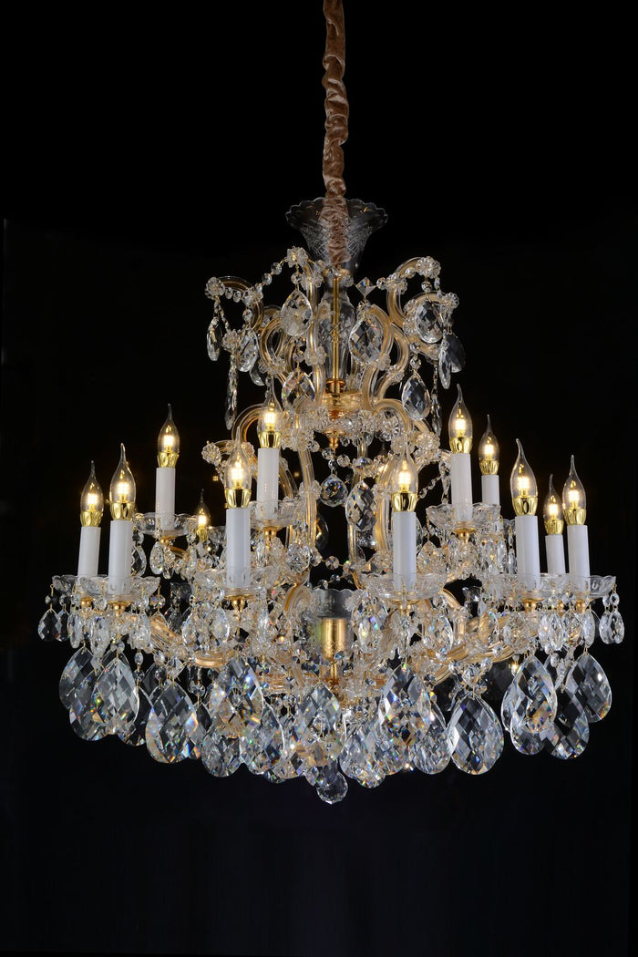La Scala Gold Chandelier in 2 Sizes