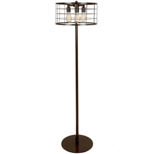 Andie Industrial Wire Floor Lamp