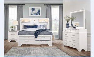 Jazz Storage Bedroom Collection in White or Grey