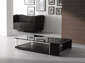 Mary Modern Coffee Table with Tinted Glass Top