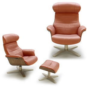 Kara Leather Lounge Chair in 7 Color Options