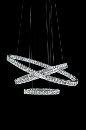 Crossover Large Trio LED Chandelier