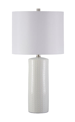 Stu White Glazed Ceramic Table Lamp