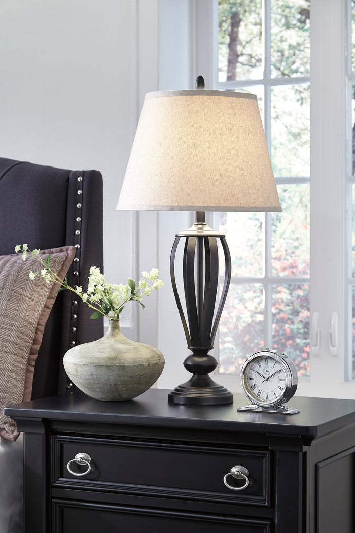 Moe Antique Bronze Metal Table Lamp