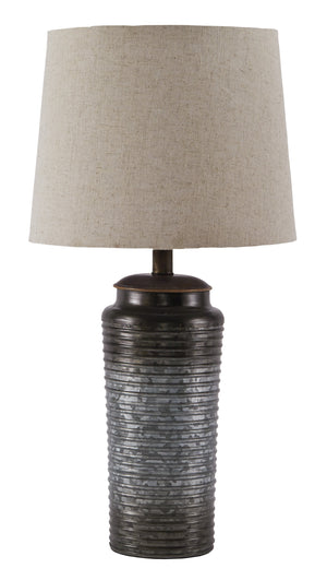 Antique Galvanized Metal Table Lamp