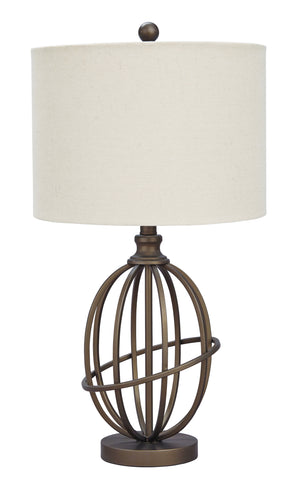 Manny Traditional Bronze Metal Table Lamp