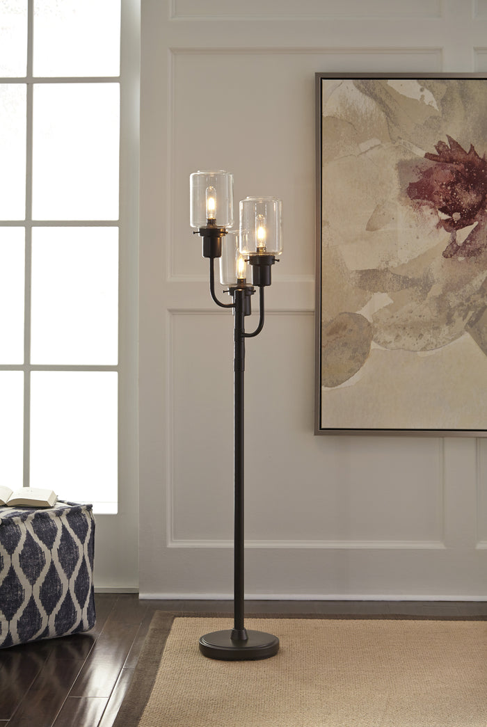 Urban Metal Floor Lamp with Glass Shades