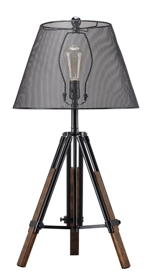 Industrial Tripod Table Lamp with Adjustable Height Legs