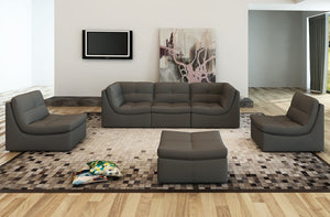 Lego Bonded Leather Modular Sectional in 3 Color Options