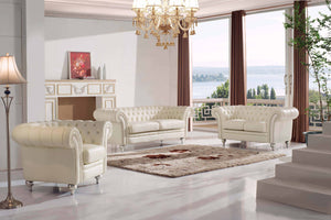 Beige Chesterfield Living Room Collection